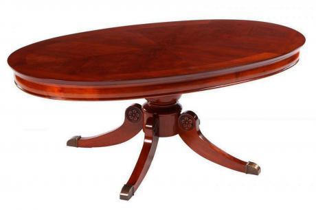 593-30 Стол журнальный овальный (1603-мс) вишня