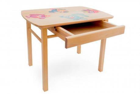 Стол прямоугольный с ящиками детский(ольха)