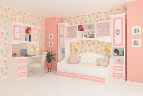 Детская мебель Алиса  белый крем