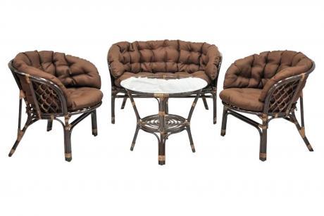 03/10 б s Комплект кофейный Багама стол+2 кресла+диван