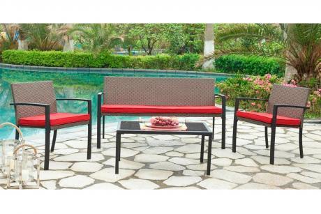 210156 ТВ Комплект кофейный/стол+2 кресла+диван