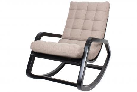 Кресло-качалка Онтарио каркас вишня тк. премьер 08 беж.