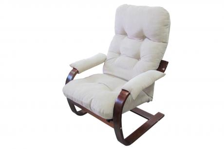 Кресло Онега 2 тк. Слон.к каркас вишня
