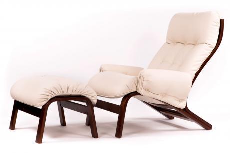 Кресло Альбано с подл. тк. Ламбре 01 беж. венге