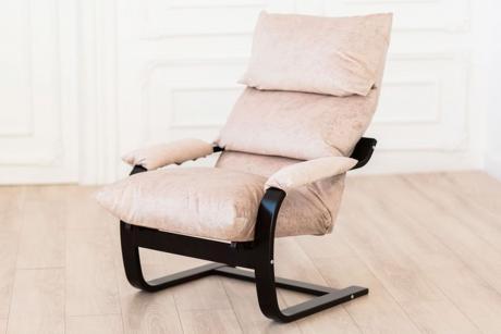 Кресло Онега тк.Карамель каркас венге