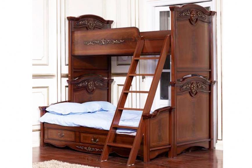 Кровать 2-х ярусная +подставка Афина+лестница к кровати