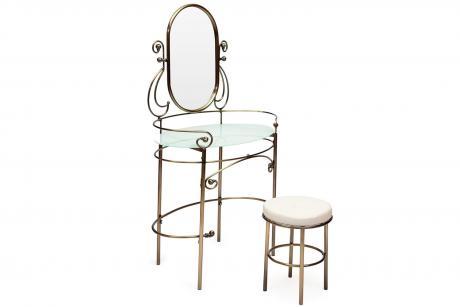 9909 Туалетный столик с пуфиком Античная медь