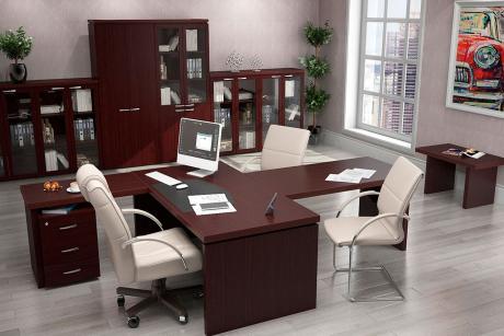 Набор офисной мебели Милан махагон