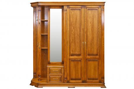 Шкаф комбинированный Верди Люкс 1 П433.01 Дуб руст.  с патин.