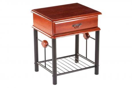 3-ST Тумба прикроватная Bedside table тёмная вишня