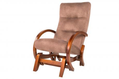 Кресло -качалка Мэтисон каркас вишня тк. капучино