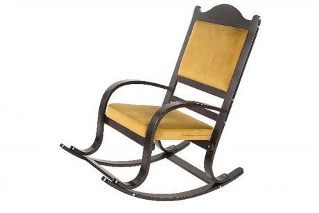 Кресло- качалка Лаена каркас вишня тк.Миндаль